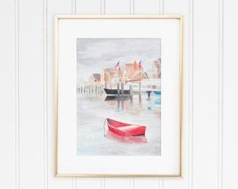 Sunken Ship Nantucket Watercolor Print
