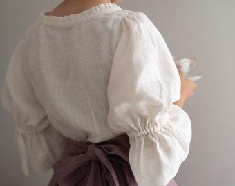 Amy Linen Blouse, Victorian blouse