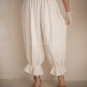 Victorian Lingerie – Underwear, Petticoat, Bloomers, Chemise Linen Bloomers White Linen Bloomers $85.00 AT vintagedancer.com