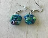 Funky earrings, stainless steel hypoallergenic dangle earrings, light comfortable earring, everyday artisan jewelry, statement jewelry