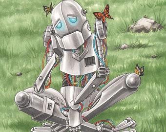 Sad Robot 11 X 17 Art Print