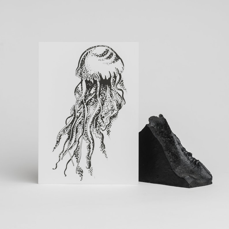 A6 postcards  Créatures étranges #1 Jellyfish