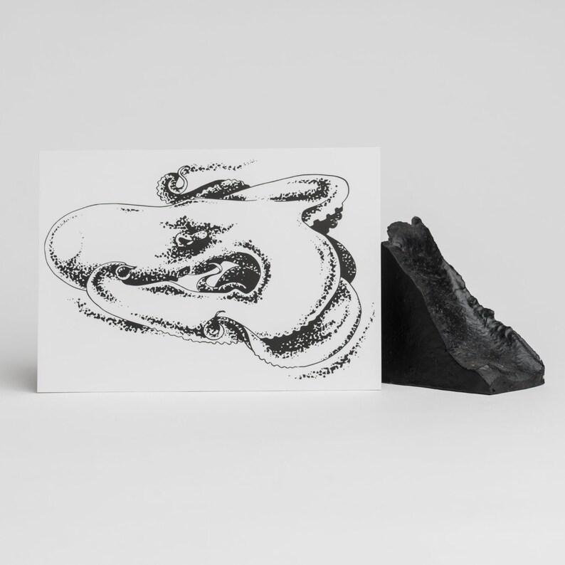 A6 postcards  Strange creatures #1 Big Octopus