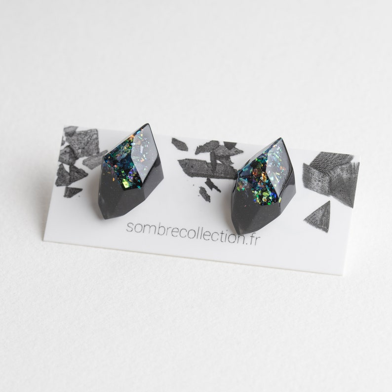 Gem earrings studs image 0