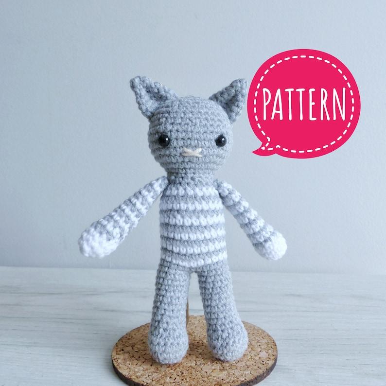 Cat Crochet Amigurumi Pattern, Amigurumi Animals, Crochet Animals, Cat  Amigurumi Pattern How to Crochet, Cute Amigurumi Cat, Cat Doll