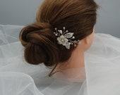 Silver hair pins-Bridal hair pins-Wedding hair pins-Bridal hair accessories-Wedding hair accessories-Bridal hair pieces-Flower hair pins