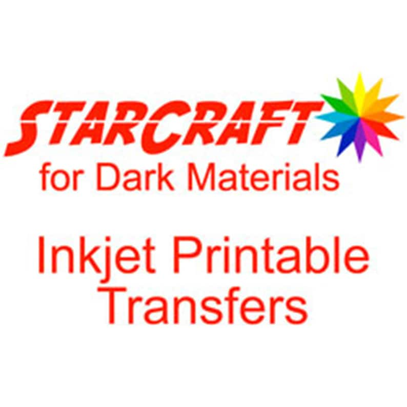 graphic regarding Starcraft Inkjet Printable Transfers called StarCraft Inkjet Printable Warm Transfers for Dim Elements Sheets - Ink Jet Print and Slash HTV - Silhouette and Cricut Appropriate