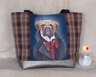 Handbag worn shoulder Dandy Boxer cabas large capacity dog chic