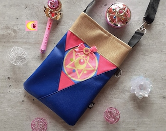 Small shoulder bag Crystal Star Compact manga Sailor Moon handmade handkerchief ichiban kuji official japan anime girl geek handmade