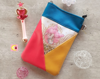 Small handbag worn in shoulder strap Cocoon Chibiusa inspiration Sailor Moon Manga handmade ichiban kuji official pyjama party japan anime