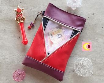 Small handbag worn in shoulder strap Mars Fire inspiration Sailor Moon Manga handmade ichiban kuji official pyjama party japan anime