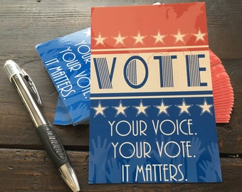Postcards to Voters! 25 Cards + Donation to Indivisible!