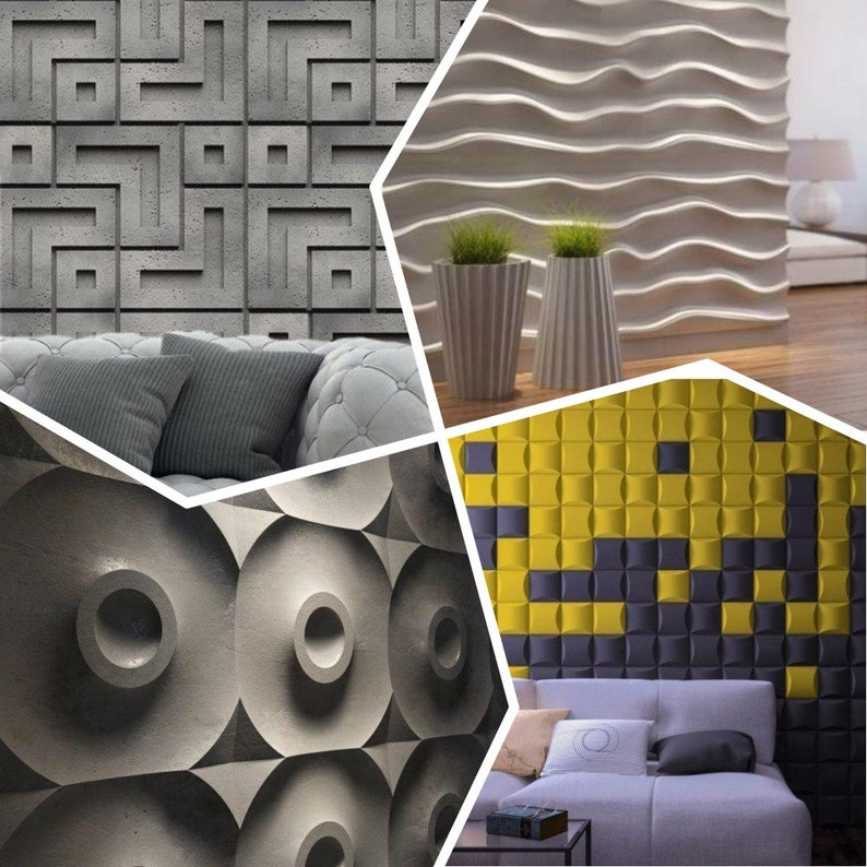 Business & Industrial Buy Cheap *beauty* 3d Decorative Wall Panels 1 Pcs Abs Plastic Mold For Plaster Ceramics & Pottery