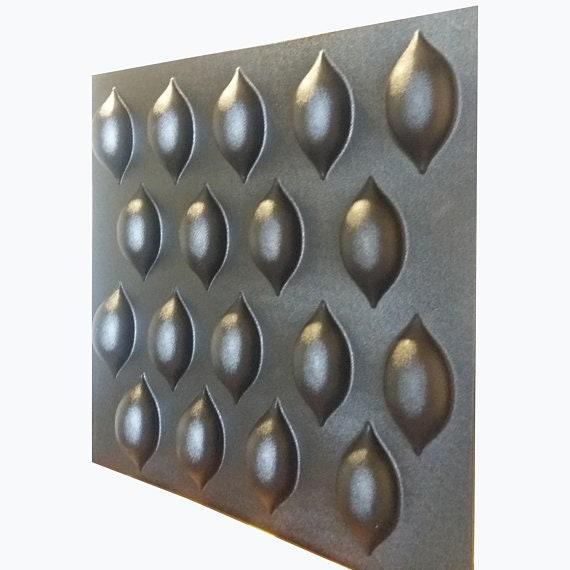 Plastique moule 3D panneau #010, (gypse) pour plâtre (gypse) #010 ...