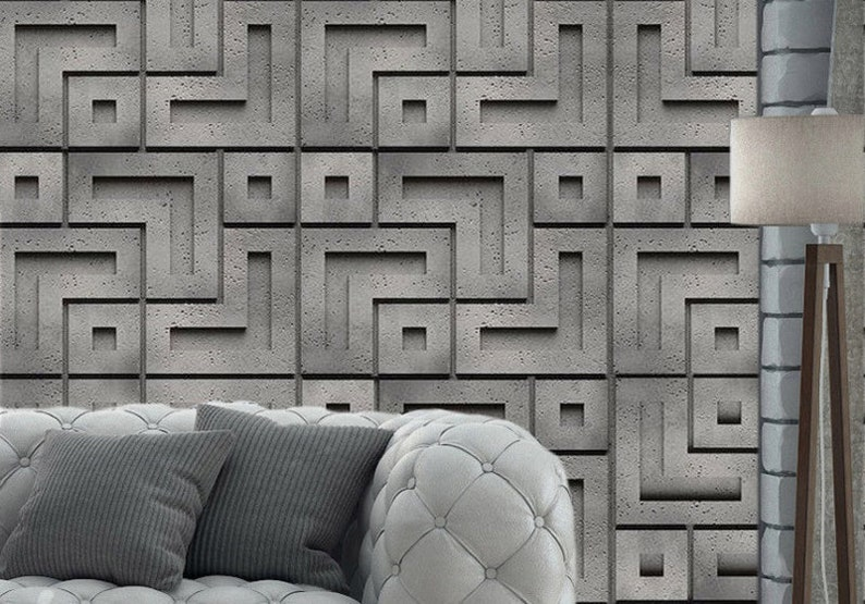 3d panel, Plastic mold, gypsum castings, Concrete mold, DIY Panel, DIY  mold, Cement mold, Cement form, Wall panel, 3D form, Concrete mould