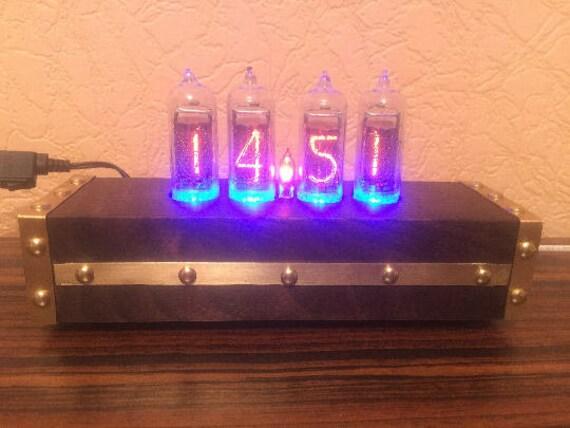 Nixie Clock IN-14 Retro clock with in-14 nixie tube lamp,pixie tube  clock,nixie tube clock kit,nixie tube clock diy,vacuum tube clock