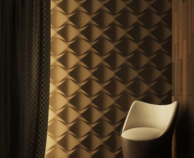3D Panel #003, Wall panel, Cement mold, Plastic mold, Concrete mold,  Concrete mould, 3D decor, Concrete form,DIY panel, Plastic form