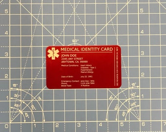 Medical Wallet Card Etsy