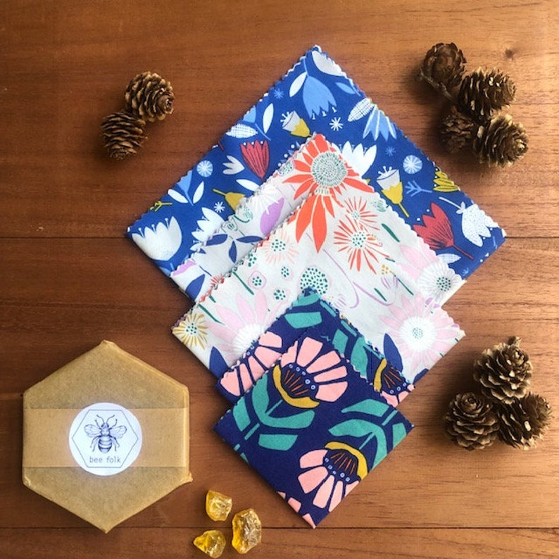 Make your own beeswax wrap DIY kit  Beeswax, Pine Resin, Coconut & Jojoba  Oil  A natural alternative to single use plastic wrap