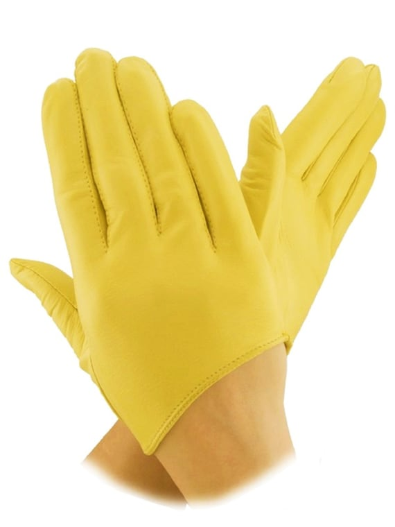 Yellow driving gloves leather gloves for ladies fashion gloves gift for her gift for her Christmas gift driving gloves accessories
