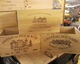 FRENCH WINE CRATE 6 bottle Size Wooden Crate Wine Box Wooden Crates Wooden Planter Wood Crates Wine Boxes Garden Planter Wooden Wine Box