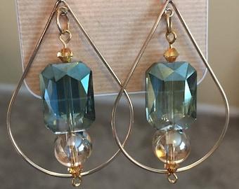 Teardrop Swarovski Crystal Earrings
