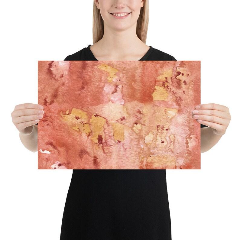 Abstract Painting Abstract Wall Art Wall Hangings Wall D\u00e9cor Abstract Abstract Poster Abstract Print Print Poster Print Sun Texture