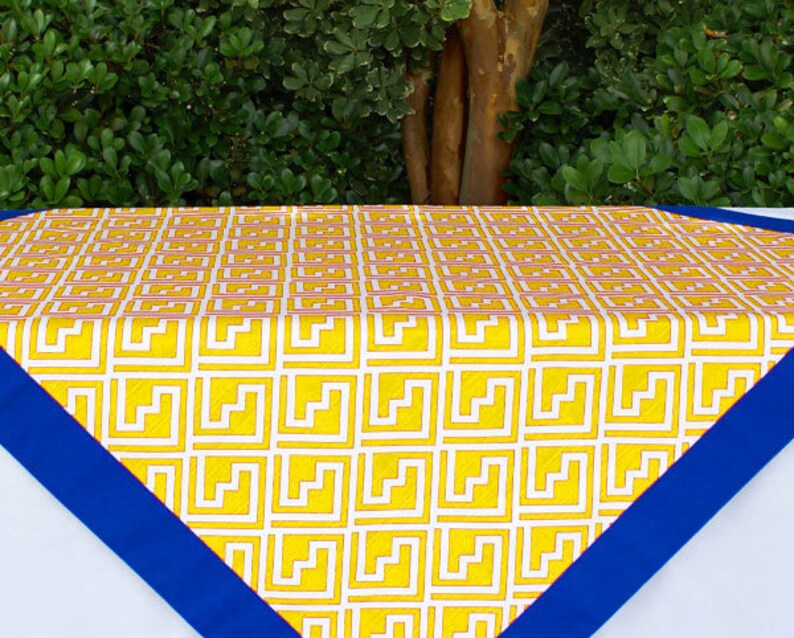 Yellow Tailgating Tablecloth Gameday tablecloth tailgating image 0