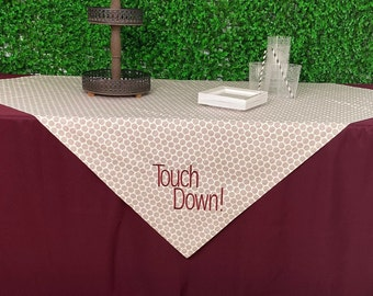Gray Tailgating Tablecloth, Game Day Tablecloth, Gray Tablecloth
