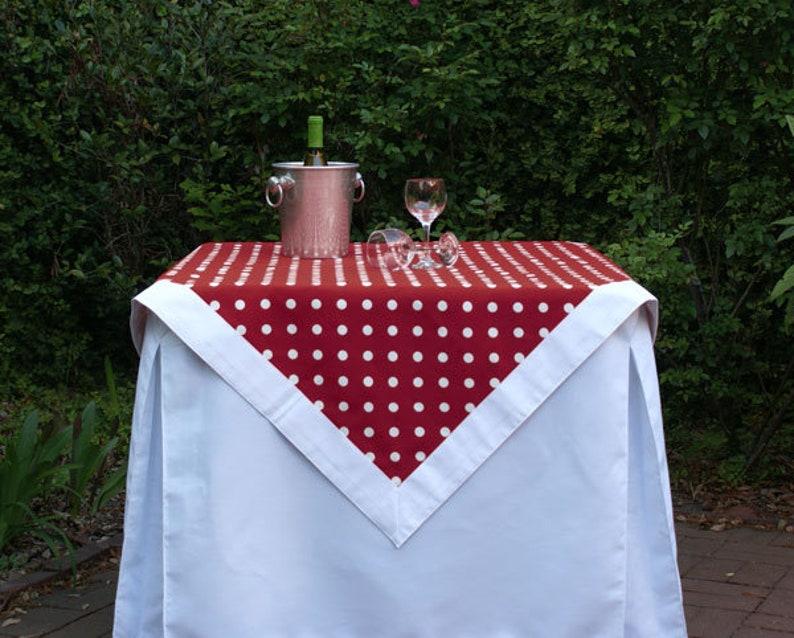 Maroon Polka Dot Tailgating Tablecloth Gameday tablecloth image 0