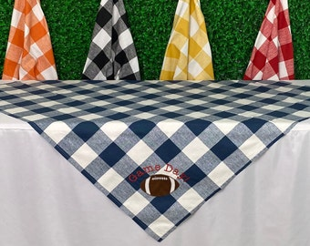 Buffalo Check Tailgating Tablecloth, Game Day Tablecloth, Tablecloth