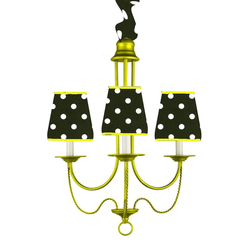 Yellow Custom Color Tent Lighting Tailgate Tent Chandelier image 0