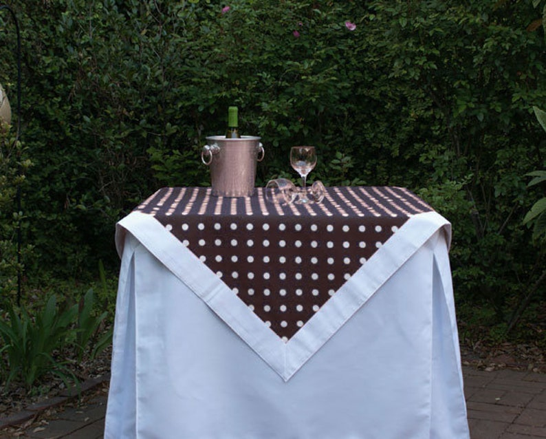 Black Polka Dot Tailgating Tablecloth Gameday tablecloth image 0