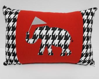 Houndstooth Pillow,  Alabama Pillow, Gameday Decor