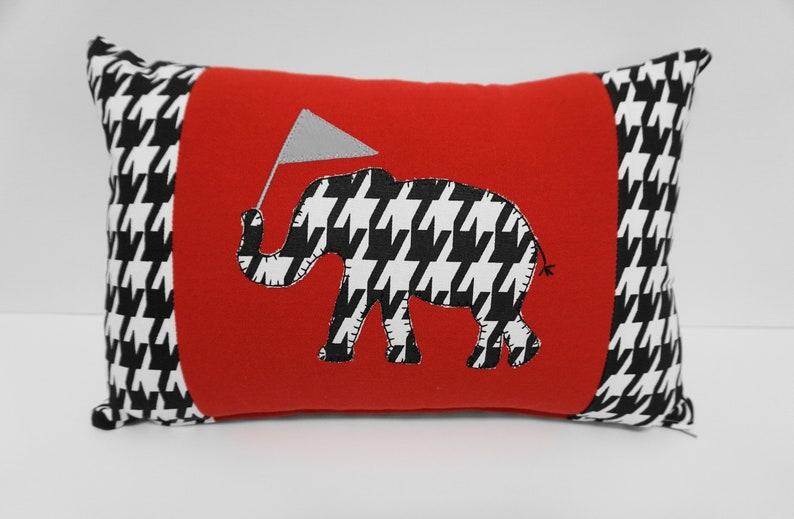 Houndstooth Pillow  Alabama Pillow Gameday Decor image 0