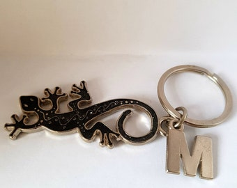 Lizard Keyring Silver Coloured