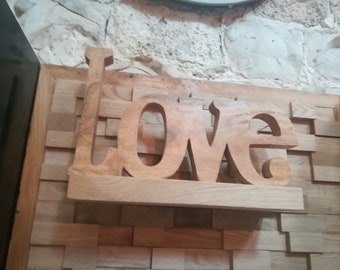 love 3d, handmade wood sign