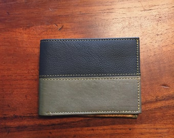 Brown/Green Leather Wallet