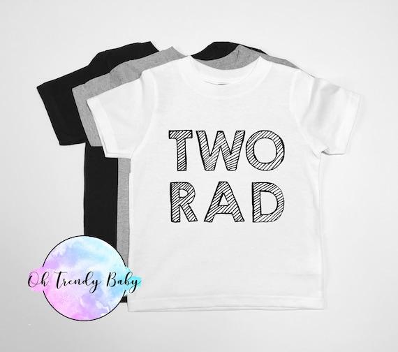 TWO Rad 2nd Birthday Shirt Toddler Boys