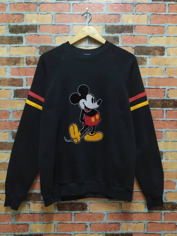Vintage 80s Mickey Sweatshirt Crewneck Ringer Disn