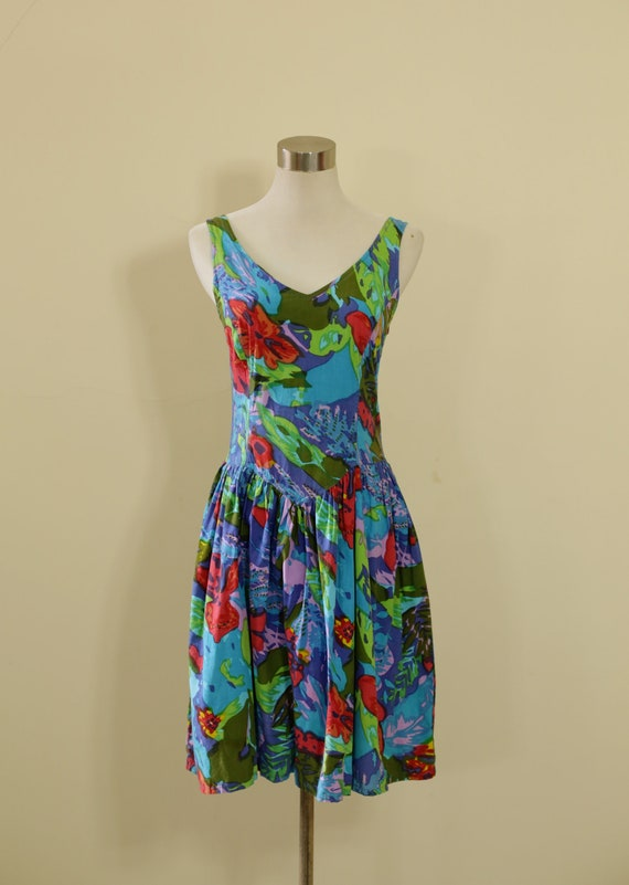 90s Summer Rainbow  Party Beach Dress