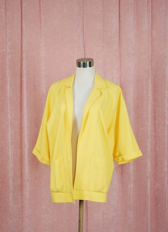 80s Yellow Summer Jacket B52s
