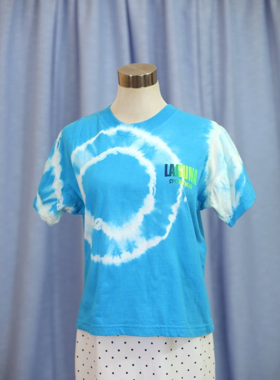 90s Tie Dye T-Shirt with surf