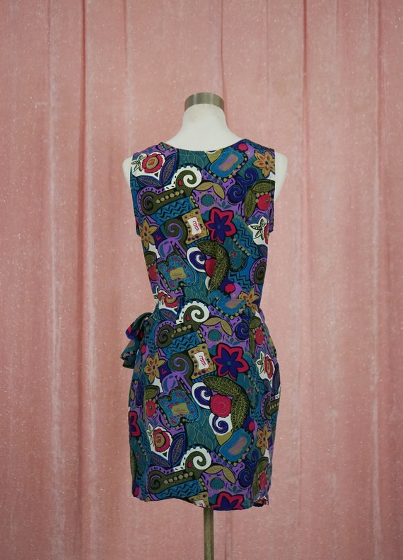 90s Floral and Geometric Pattern Top and Matching… - image 6