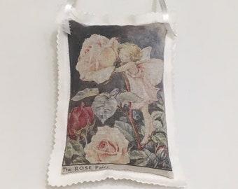 Vintage Postcard Organic Lavender Provence France Paris Hummingbird Lavender Sachet Sachet Bag