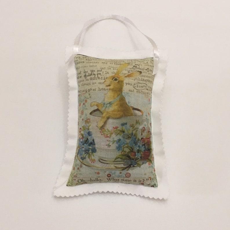 Lavender Sachet Vintage Postcard Sachet Bag Organic image 0