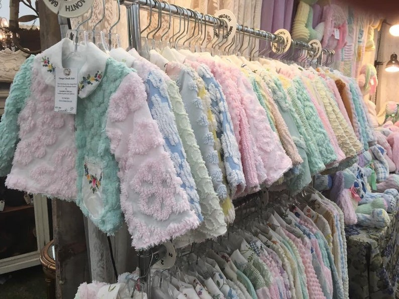 9 Month Girls Chenille Jacket  Size 9 Months Baby Girls image 0