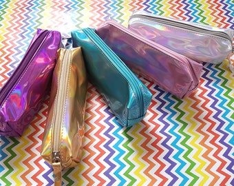 222a8c4f44 Holographic pencil case | Etsy