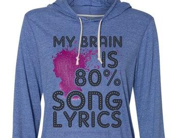 My Brain Song Lyrics Etsy