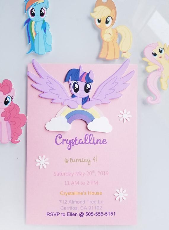 My Little Pony Invitation My Little Pony Invitation Card My Little Pony Birthday Invite My Little Pony Rsvp Characters Customizable